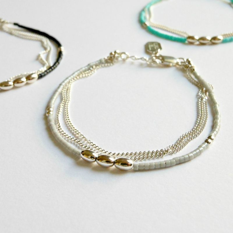 bracelet double chaine: 925 sterling silver
