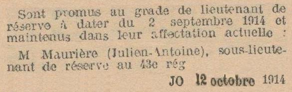 MAURIERE Lt R TT 02 SEPTEMBRE 1914 N6293057_JPEG_5_5EM