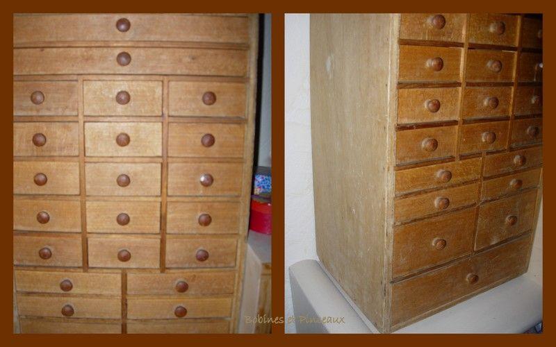 meuble à tiroirs chiné