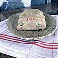 Terrine de foie gras de canard au Comt et noix grilles