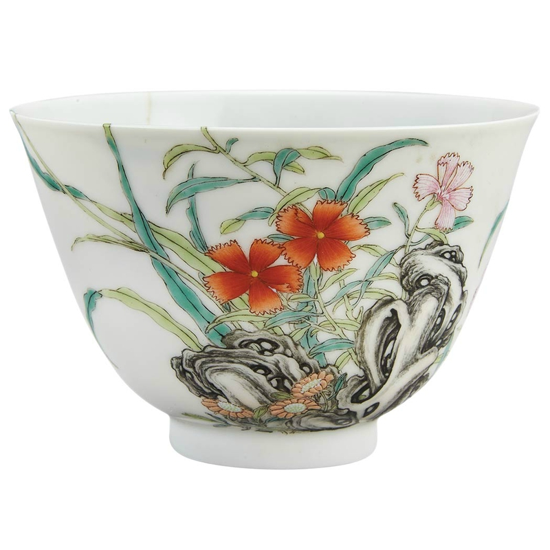 Chinese Famille Rose Glazed Porcelain Cup, Yongzheng Mark and of the Period1