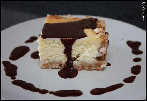 Cheese-cake chocolat blanc chocolat noir2