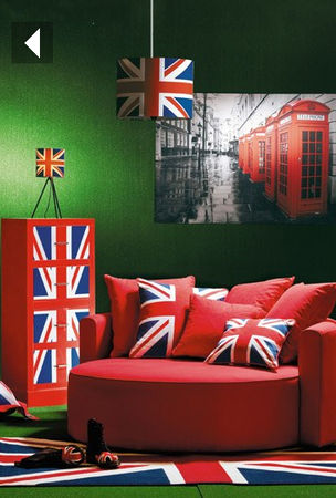 une d co union jack drapeau anglais pla net d co. Black Bedroom Furniture Sets. Home Design Ideas