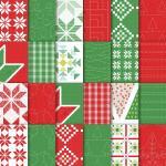 Papiers série design Noël matelassé