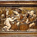 Relief of the holy family, renaissance, attributed to d. siloe (diego de siloé, burgos 1495-1563 granada), spain, 16th century