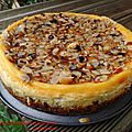 Cheesecake aux amandes et speculoos