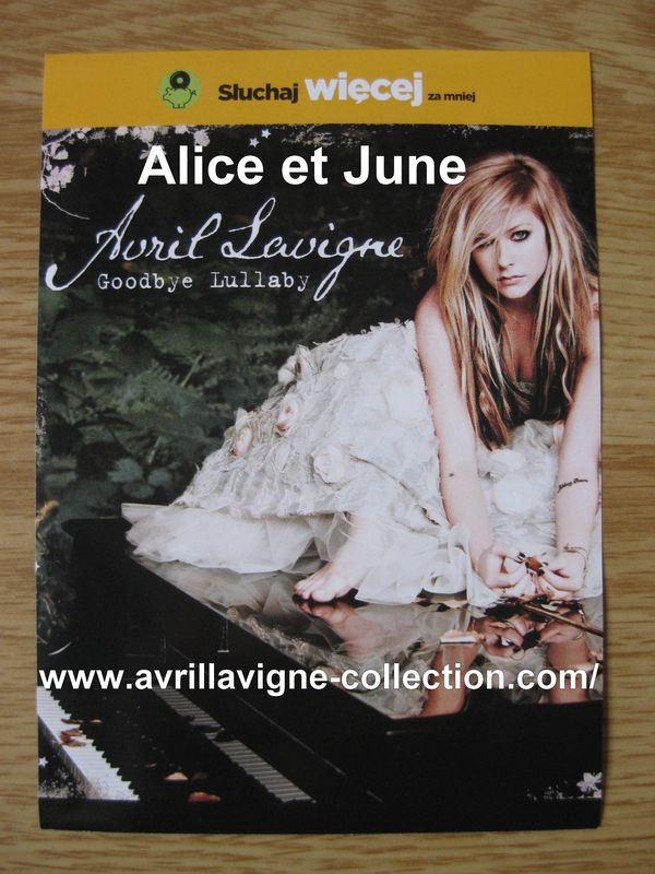 Fiches promotionnelles polonaises-Goodbye Lullaby (2011)