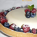 Tarte à la panna cotta au citron et fruits