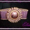 bracelet rose crystal burst