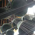 4 cloches font 40 cm de diamètre, 4 autres 30 cm et les 4 dernières 20 cm