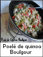 Poelé de quinoa boulgour weight watchers