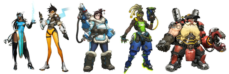 Overwatch main characters Mei