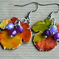 earrings faux enamel