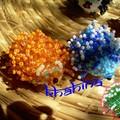 Hérissons Bleu, Orange et vert