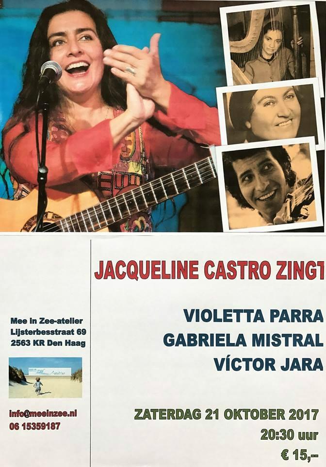 Próximo concierto Jacqueline Castro Ravelo en La Haya - 21 octubre 2017