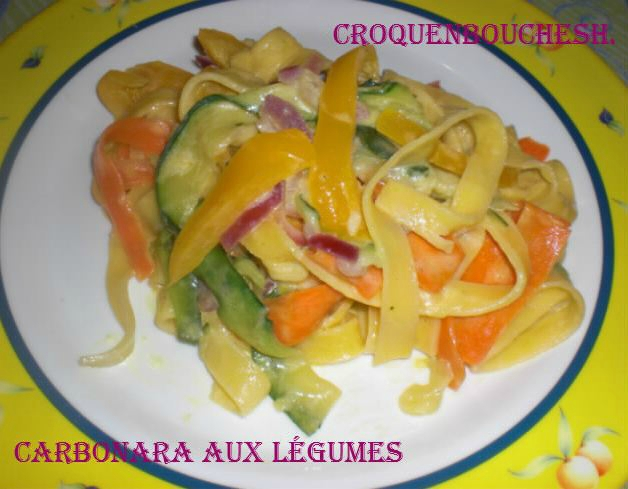 Carbonara aux légumes
