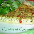 Quiche fromagre au fenouil et petites graines 