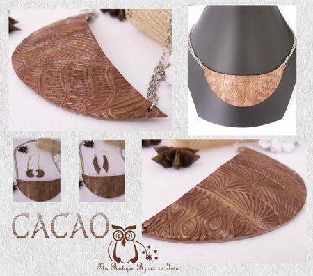 Collier Plastron 2 CACAO