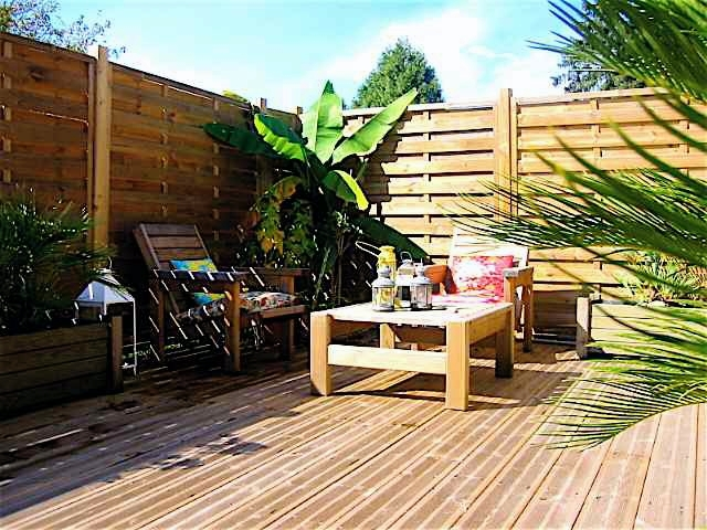 Palissade terrasse Boisjpg Photo De Amnagement Extterrasses Bois
