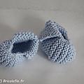 Chaussons bleu a