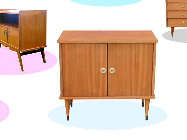 petit buffet commode vintage annees 1960 meubles et d coration vintage design scandinave. Black Bedroom Furniture Sets. Home Design Ideas