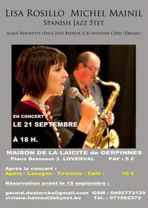 Affiche Spanish Jazz Project Loverval BD