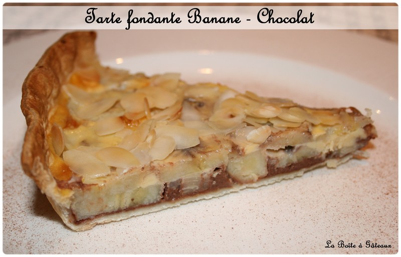 Tarte a la banane chocolat noix de coco