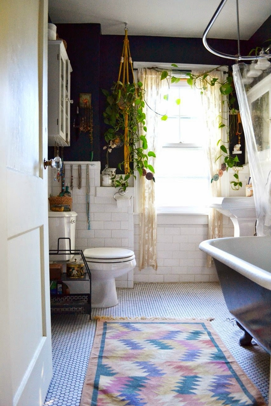 bathroom relaxing bohemian home vintage