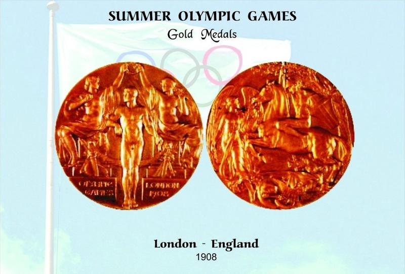 CPM JO Londres 1908 Médailles