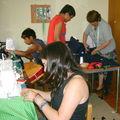 2º etapa del taller de Costura con la tía Raquel: Danilo, Nicole...