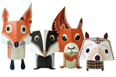 Forest_Friends_mibo_renard_blaireau_ecureuil_herisson_animaux_foret_decoupage_paper_toy