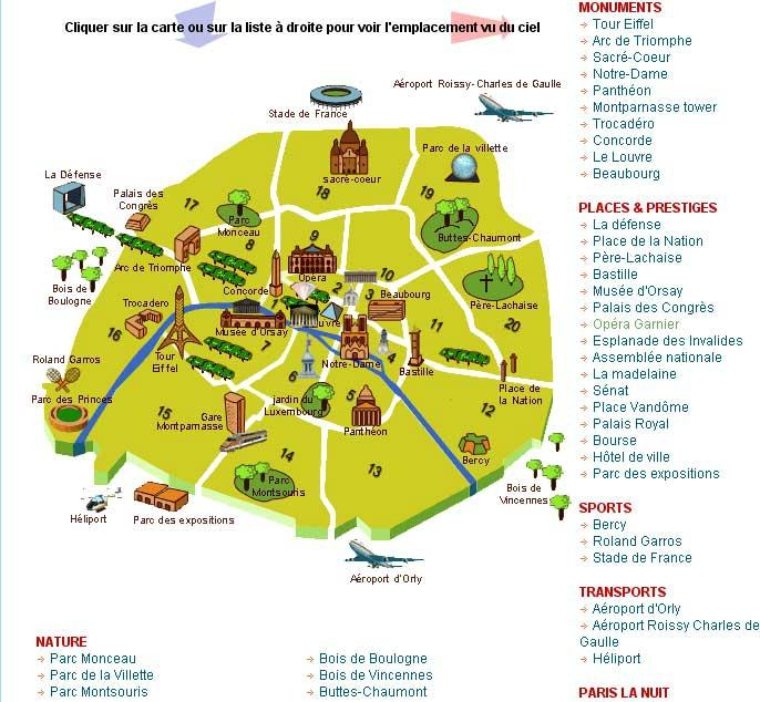 Les arrondissements de paris du majestic les caves du for Carte touristique de paris