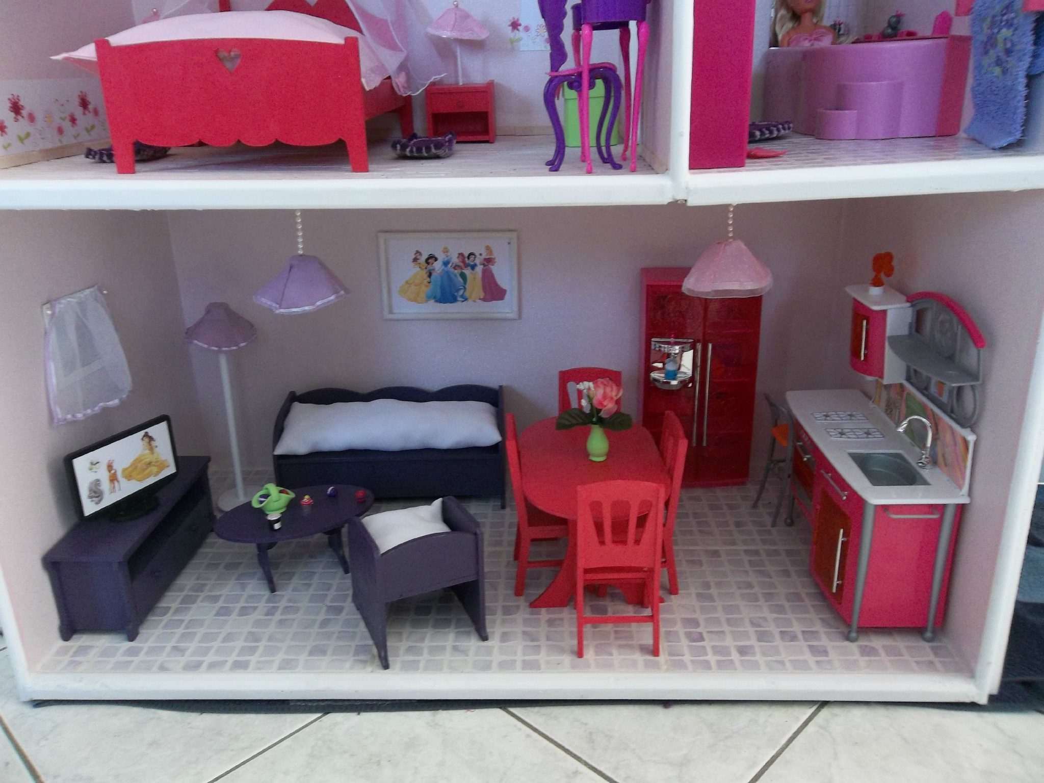 maison poupee barbie. Black Bedroom Furniture Sets. Home Design Ideas