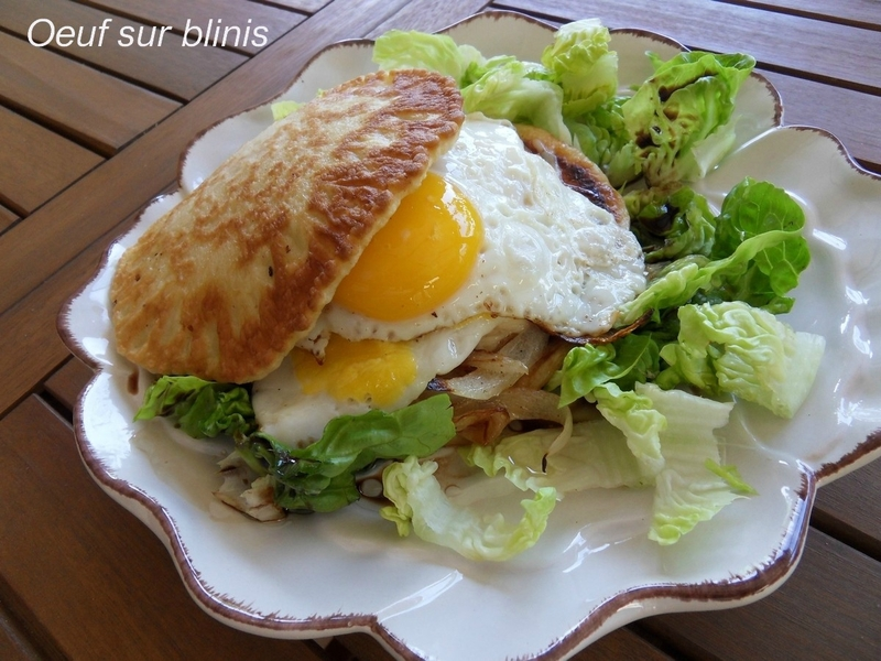 oeuf sur blinis