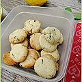Biscuits citron basilic