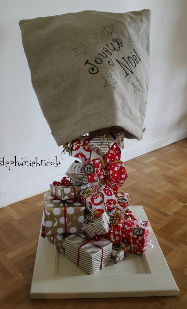 Diy calendrier avent chute de cadeaux gravity advent - Gravity cake noel ...