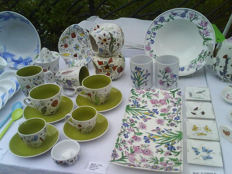 Pascale henchley peinture sur porcelaine printemps des for Decoration sur porcelaine