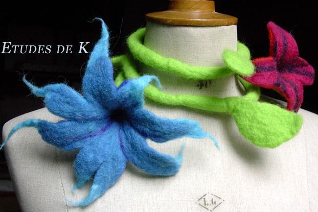 Fleur liane bleu-rouge 1