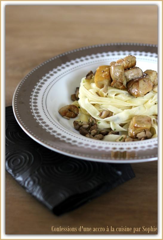Tagliatelles foie gras et cèpes 011