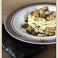 Tagliatelles aux cèpes et au foie gras