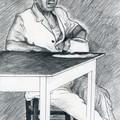 Portrait d'homme attablé