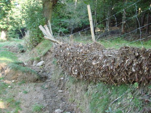 2008 09 21 Dégats des Intempéries en Ardèche (près de Saint Julien le Roux sur cette photo)
