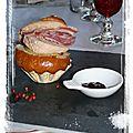 Briochette au foie gras.