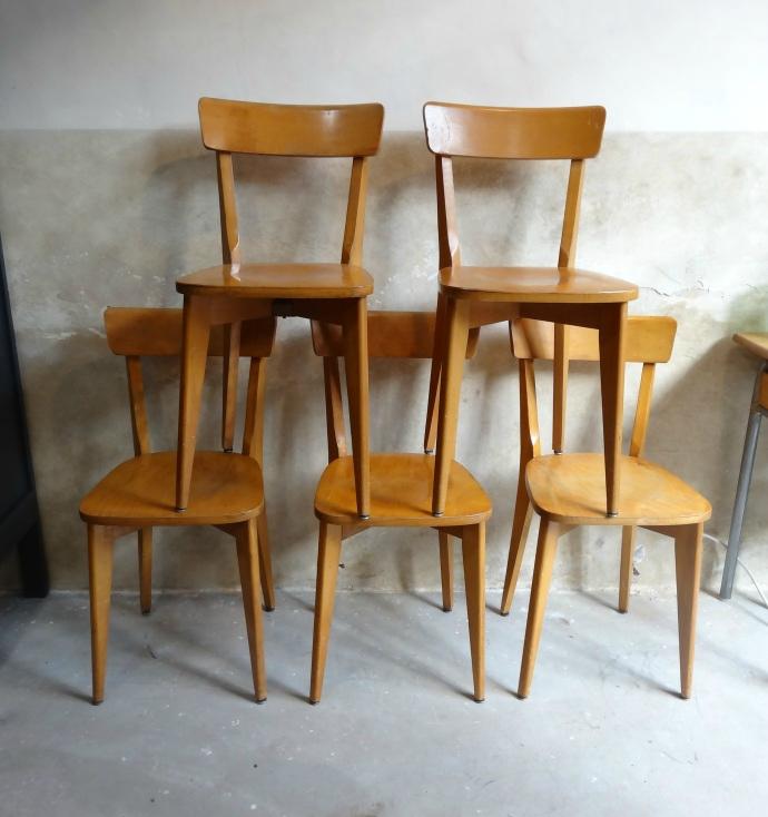 Serie de chaises années 50