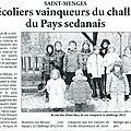 L'ardennais du 16/02/2012 - le challenge des ecoles