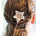 1 ornement cheveu fleur chantilly