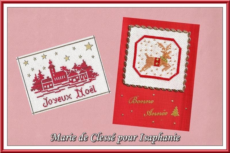 Échange ATC Perso (Noël) Décembre Marie de Clessé pour Isaphanie 2