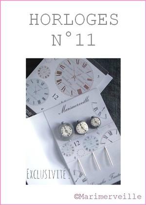 Epingles marimerveille horloges N°11