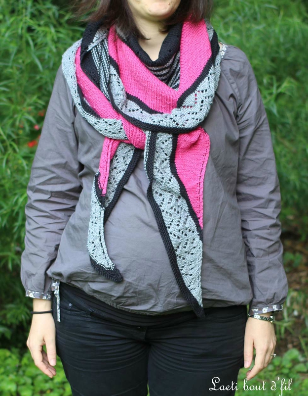 3colors cashmere shawl 3