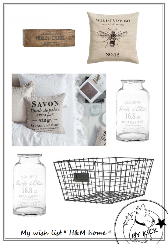 wish list H&M home texte
